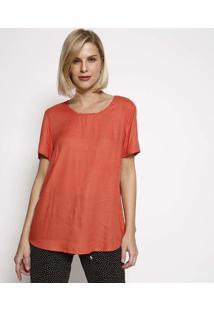 Blusa Texturizada Com Vazado- Laranjahering