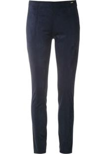 Armani Exchange Calça Skinny Acamurçada - Azul