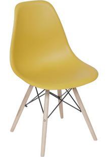 Cadeira Eames Dkr- Aã§Afrã£O & Bege- 80,5X46,5X42Cm