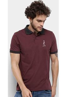 Camisa Polo Derek Ho Friso Caveira Masculina - Masculino-Bordô