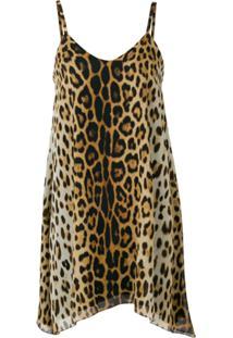 Moschino Leopard Print Dress - Marrom