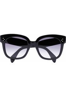 Celine Eyewear Óculos De Sol Quadrado - Preto
