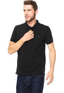 Camisa Polo Aramis Textura Preta