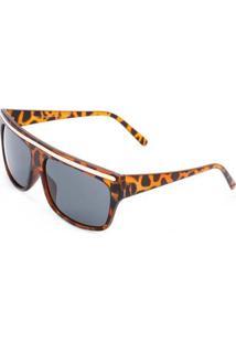 Óculos De Sol Ray Flector Vtg564 Feminino - Feminino-Marrom