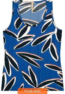 Blusa Malha Mvs Thirty Plus Azul