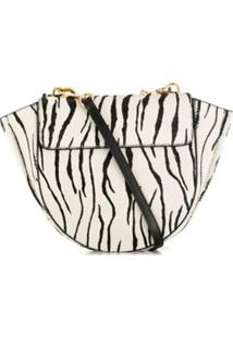 Wandler Hortensia Zebra Print Bag - Preto