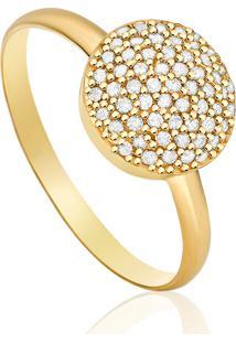 Anel Em Ouro Amarelo 18K Com Diamante - Florence 14