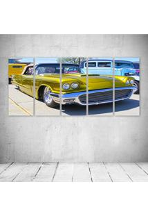 Quadro Decorativo - Old Car Yellow - Composto De 5 Quadros - Multicolorido - Dafiti