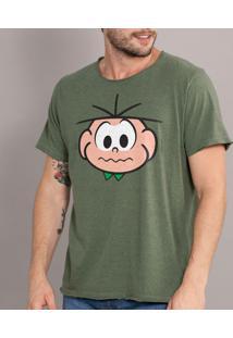 Camiseta Bandup! Turma Da Mônica Face Cebolinha - Masculino-Verde