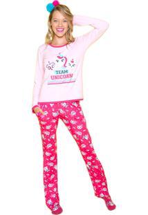 Pijama Visco Unicórnio Adulto Puket