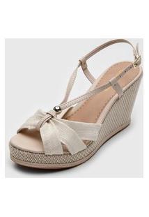 Sandália Dafiti Shoes Anabela Off-White