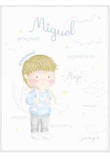 Quadro Significado Do Nome Miguel Loiro 25Cm Grã£O De Gente Azul - Azul - Menino - Dafiti