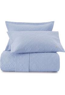 Conjunto De Colcha Voyant Ultrawave Casal- Azul Claro