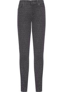 Calca Feminina Jeans Animal - Preto