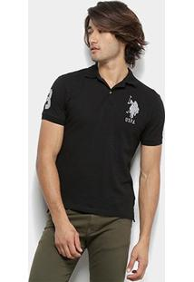 Camisa Polo U.S. Polo Assn Lisa Uspa Masculina - Masculino