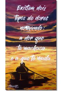 Quadro Em Óleo Original Pintado A Mão Com Frase Motivacional