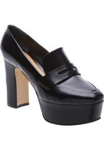 Sapato Meia Pata Em Couro- Pretoschutz