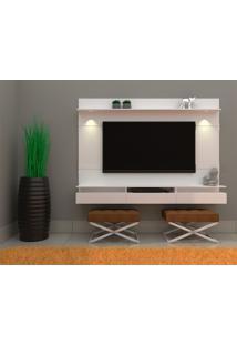 Painel Para Tv Até 50 Polegadas Gabriela Branco 220 Cm