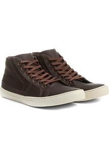 Sapatênis Couro Shoestock Cano Alto Recortes Masculino - Masculino