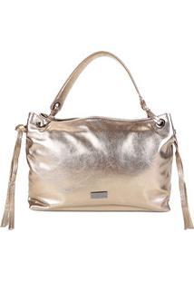 Bolsa Couro Shoestock Shoulder Bag Feminina - Feminino-Chumbo