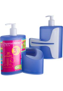 Dispenser Abraço Basic 19,7 X 8,5 X 16,6 Cm 600 Ml Azul Coza