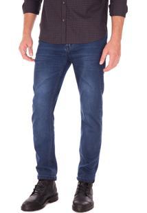 Calça Reta Side Walk Calça Jeans Sw Azul