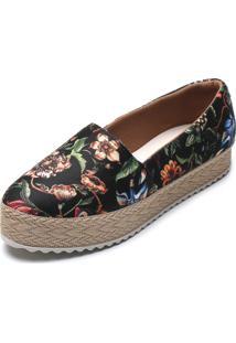 Alpargata Dafiti Shoes Espadrille Preta - Kanui