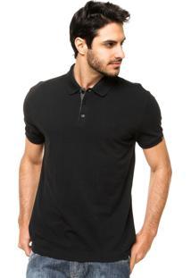 Camisa Polo Forum Fenda Preta