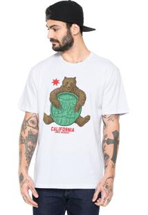 Camiseta Dc Shoes Bearly Legal Branca