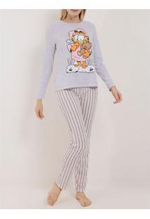 Pijama Garfield Longo Feminino - Feminino
