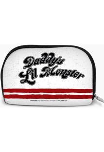 "Nécessaire ""Daddy'S Lil Monster""- Branca & Vermelha-Dc Comics"