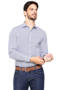 Camisa Vr Padronagem Poás Cinza