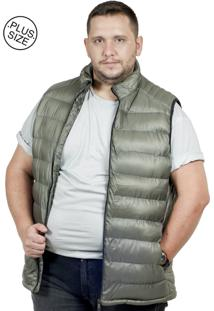 Colete Plus Size Nylon Bigshirts Verde