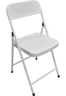 Cadeira Açomix Dobrável Aço Branco Açomix