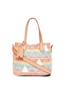 Bolsa Feminina Mini Shopping Nina Triangle Summer Colors - Bege