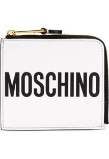 Moschino Carteira De Couro Com Logo - Branco