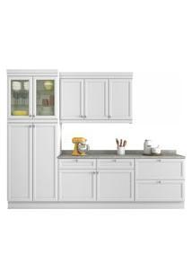 Cozinha Americana 4 Peças (Com Paneleiro) Branco Nesher
