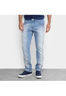 Calça Jeans Slim Zamany Masculina - Masculino-Jeans