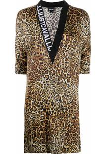 Just Cavalli Vestido Com Estampa De Leopardo - Neutro