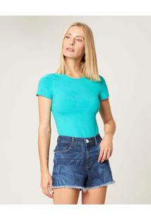Blusa Verde Claro Cotton Conforto Malwee Verde Claro - M