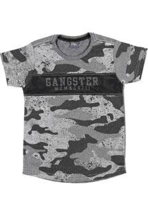 Camiseta Gangster Manga Curta Masculino - Masculino