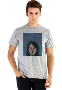 Camiseta Ouroboros Manga Curta Céu Noturno - Masculino-Cinza