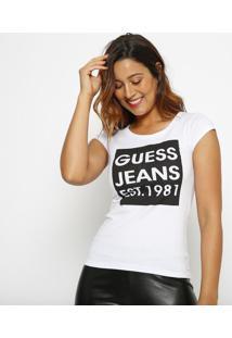 """Blusa """"Guessâ® Jeans""""- Branca & Preta- Guessguess"""