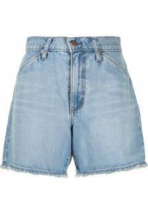 Nobody Denim Short Jeans Erin Cintura Alta - Azul