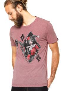 Camiseta Fashion Comics Suicide Attraction Vinho