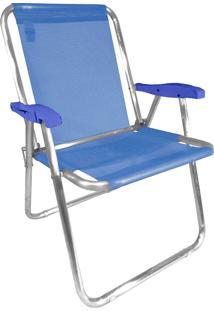 Cadeira De Praia Zaka Max Alumínio Até 140Kg