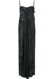 Hansine Vestido Tie Dye - Preto
