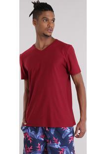 Camiseta Básica Flamê Vinho