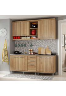 Cozinha Compacta Sem Tampo 4 Peças Sicília 5818-S10 - Multimóveis - Argila Acetinado
