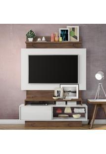 Painel Para Tv Tb111 Off White/Nobre - Dalla Costa